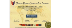 TESOL Certificate - A requirement for teaching English in China